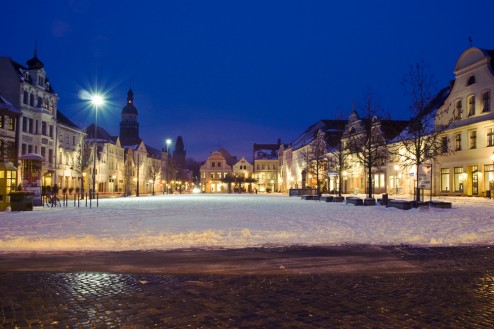 Altmarkt Cottbus im Winter