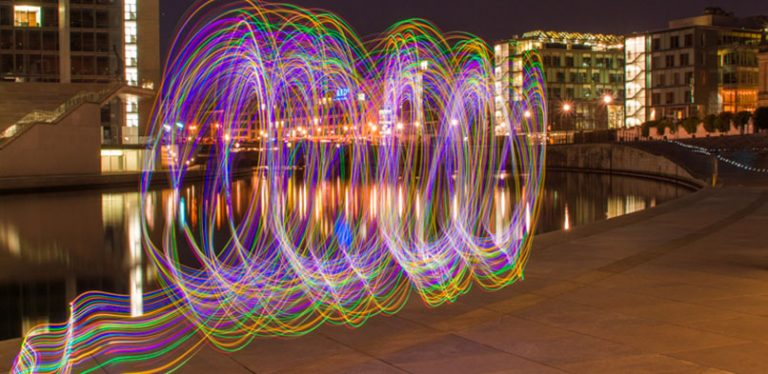 Lightpainting in Berlin (1. Versuch)